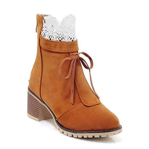 Slip Dress Womens ABL10217 Boots Yellow Resistant BalaMasa Suede Fashion zwvaT