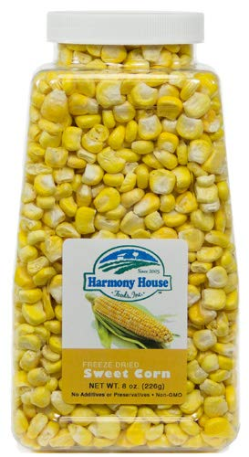 Harmony House Foods Freeze-Dried Whole Corn (8 oz, Quart Size Jar)