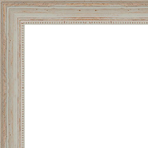 30x40 - 30 x 40 Nautical White Washed Solid Wood Frame wi...