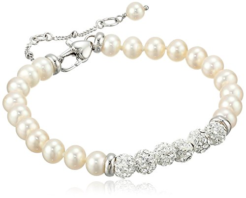 Honora Girls' Sterling Silver White Freshwater Cultured Pearl Bracelet