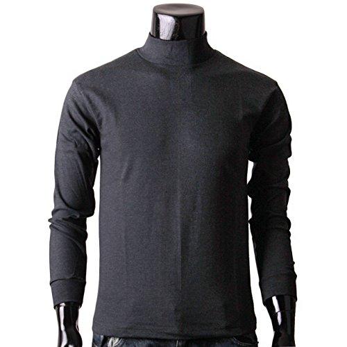 BCPOLO Herren rollkragen dunkelgrau T-Shirt Baumwolle Stehkragen T-Shirt