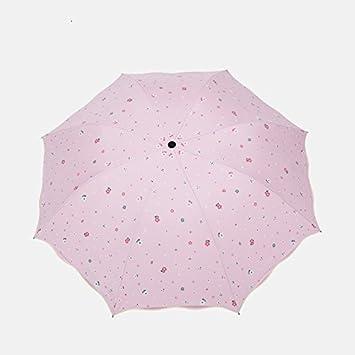NING567 Paraguas Plegable////Dual-Purpose Hembra Sombrilla/UV/Sun