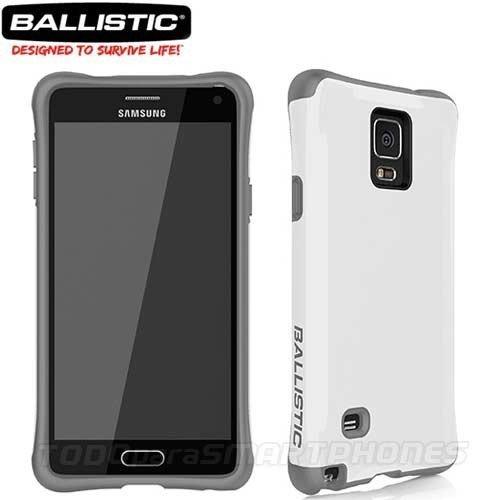 Ballistic Urbanite Carcasa para Samsung Galaxy Note 4–Embalaje de venta–gris/blanco
