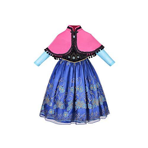 Girls Unicorn Tutu Dress Princess Rapunzel Superhero Vampirina Cosplay Party Wear,Princess Anna ZT605,8 ()