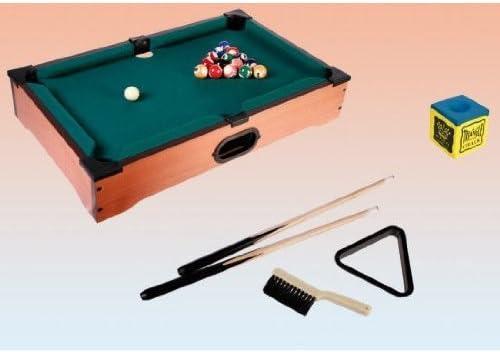 Mesa billar mini de madera, 51 x 31 x 10 cm – Incluye todos los ...