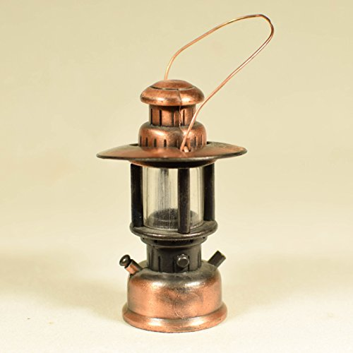 Metal Die Cast Railroad Lantern Pencil Sharpener - Antique Finished Miniature Rare ()