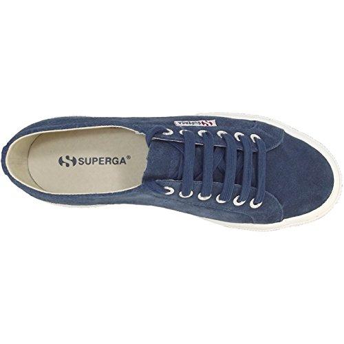 Superga - Zapatillas de ante para hombre Azul - dunkelblau (blue night shadow)