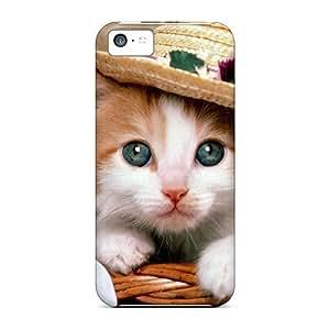 FashionE-Space Cute Cat Durable Iphone 5c Tpu Flexible Soft Case