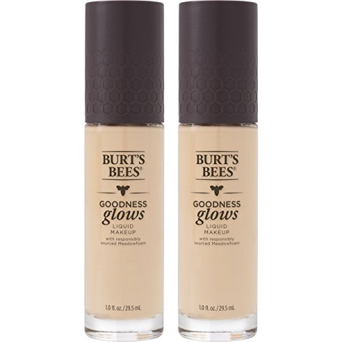 Burt's Bees Goodness Glows Liquid Foundation, Ivory, 1.0 Ounce, Pack of 2