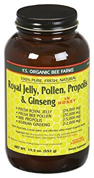 YS Royal Jelly, Pollen, Propolis & Ginseng in Honey (19.5 Fl. Oz Liquid)