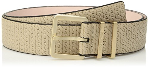 Calvin Klein Womens 35mm Feather Edge Chain-Embossed Leather Belt