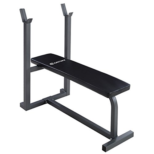 MyEasyShopping Weight Lifting Fitness Workout Sit up Board Bench Fitness Sit Up Weight Lifting Bench Workout Board Exercise Home Flat Gym by MyEasyShopping
