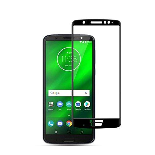 Película de Vidro 3D, Cell Case para Smarphone Moto G6 XT1925, Película de Vidro Protetora de Tela para Celular, Preto