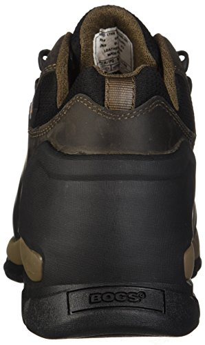 Bogs Hombres Foundation Leather Low Soft Toe Bota Industrial Marrón