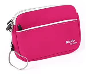 DURAGADGET Premium Quality Water-Resistant Travel Pouch-Style Case in Pink Neoprene for Alcatel Hero 8