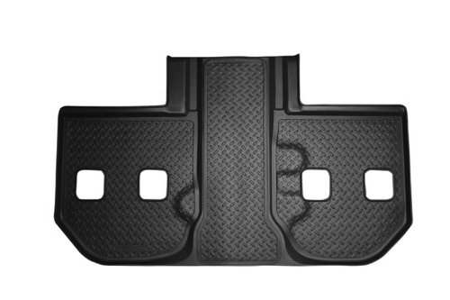 Husky Liners Custom Fit Molded Third Seat Floor Liner for Select Vehicles with 2nd Row Bucket Seat for Select Chevrolet/Cadillac/GMC Models (Black) - 3rd Row Seat Vehicles