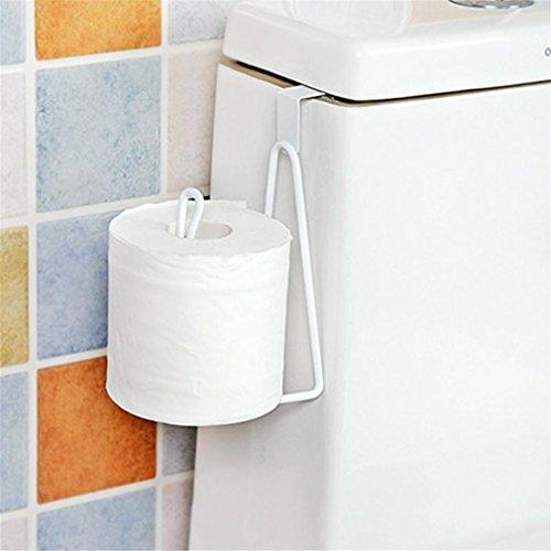 Tissue Holder Hanging Toilet (DIEERCARS Toilet Tissue Holder Hanging Bathroom Roll Paper Holder Towel Rack Kitchen Cabinet Door Hook Holder)