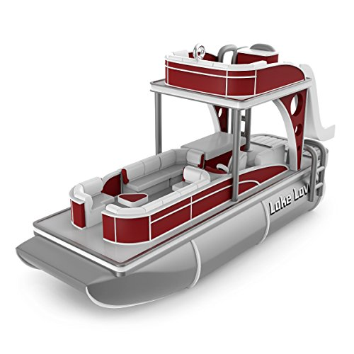 Hallmark Keepsake Christmas Ornament 2018 Year Dated, in The Summertime Pontoon Boat with Music