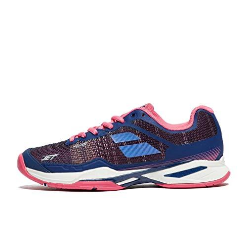 Babolat Women's Jet Mach I All Court Tennis Shoes, Estate Blue/Fandango Pink (Size 8) by Babolat