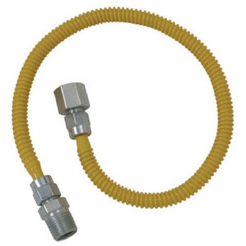 (Brasscraft CSSL54-60 ProCoat Straight Connector Gas Dryer & Water Heater Flex-Line (3/8
