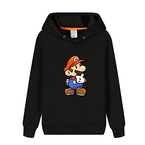 Mario Femmes Hoodies Pullover Super Longues Hiver Unisex Chaud Hommes Sweat shirts Pour Aivosen Et Mode Black26 Manches 1wIqtxZn