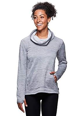 RBX Active Women's Fleece Cowl Neck Sweatshirt Grey