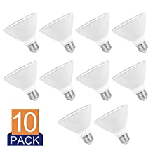 SUNEON 10 Pack Led Bulbs Par30 Short Neck(L=3.54'') #Wet Location# Spot Light Bulbs Dimmable 5000k Daylight 10w 75w Equivalent 120v UL Listed (5000K)