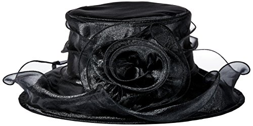 san-diego-hat-company-womens-organza-hat-with-wired-brim-and-rosette-trim-black-one-size