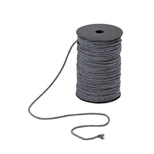 4mm Natural Cotton Macrame Cord Rope for DIY Crafts, 4mm x 100m (About 109 Yards)