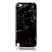 iPod 5 / iPod 6 Black Marble Case,IVY [Marble] iTouch 5th 6th TPU Case Cover for iPod Touch 5 / iPod Touch 6 Phone