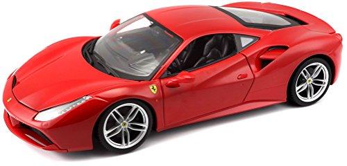 Burago 1/18 Scale Diecast - 18-16008 Ferrari 488 GTB Rosso - Usa Ferrari Models