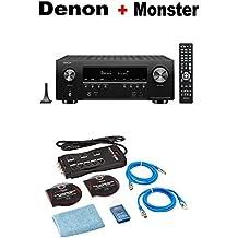 Denon AV Receivers Audio & Video Component Receiver BLACK (AVRS940H) + Monster Home Theater Accessory Bundle