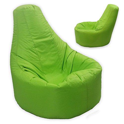 Riesensitzsack Gamer Liege, für drinnen und draußen, Gr. XXL, Limettengrün-Gaming-Sitzsack-Stuhl wasser- und witterungsbeständig)