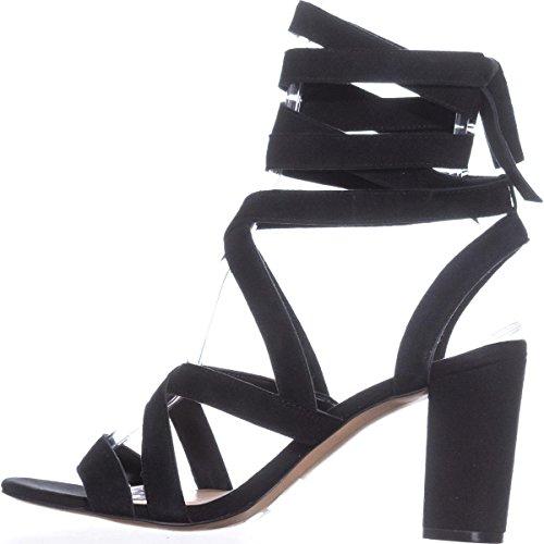 Kailey International Leder INC Velourslederoptik Schwarze Sandale Concepts SEBfH