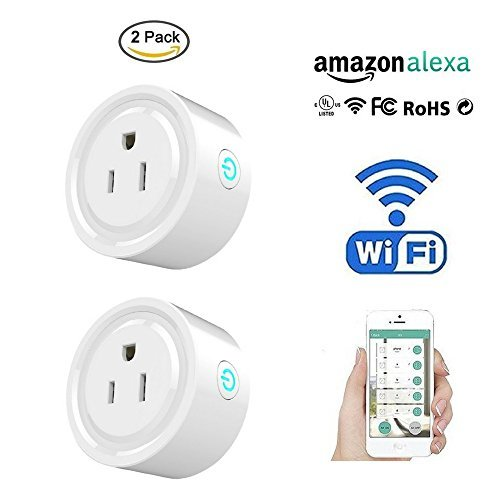 Smart Socket Mini Smart Plug Wifi Socket Remote Control Devices From Anywhere With Smart Phone, Compatible with Alexa, Wireless Smart Timing Socket KING2PRO 2-Pack