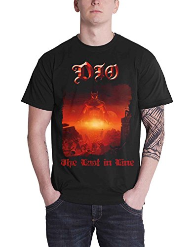Dio T Shirt The Last in Line Album Cover Ronnie James Official Mens Black Size M