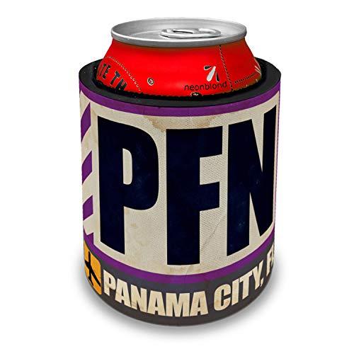 NEONBLOND Airportcode PFN Panama City, FL Slap Can Cooler Insulator -
