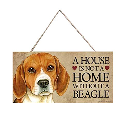 Shonlinen Rectangle Shape Wooden Pet Sign Tag Plaques Dog Accessories from Shonlinen