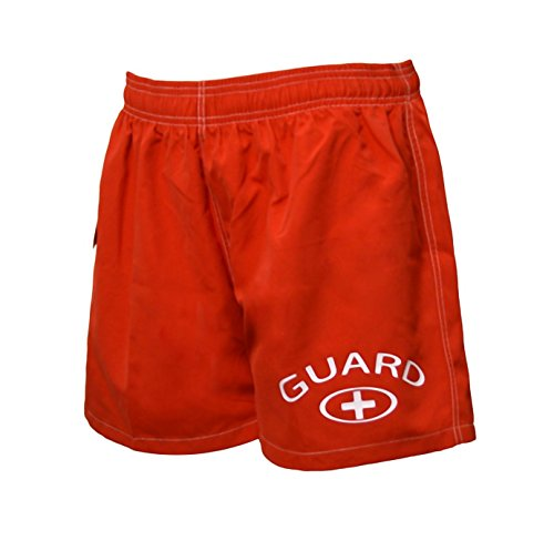 Women's Lifeguard Board Shorts X-Small Red