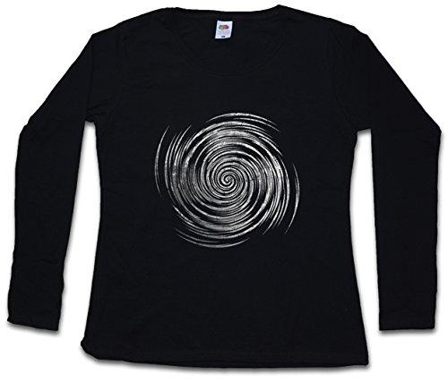 Hypno Spiral III Women Long Sleeve T-Shirts Sizes XS - 2XL Black