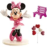 Minnie 302012, kit per la decorazione di torte, modellini in plastica, rosa, 3 x 5 x 9 cm