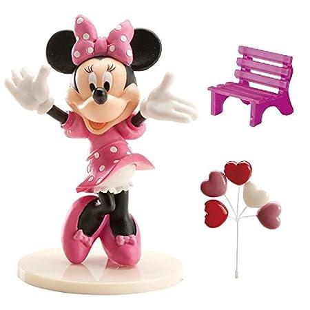 Minnie 302012, Kit per la Decorazione di Torte, modellini in plastica, Rosa, 3x 5x 9cm