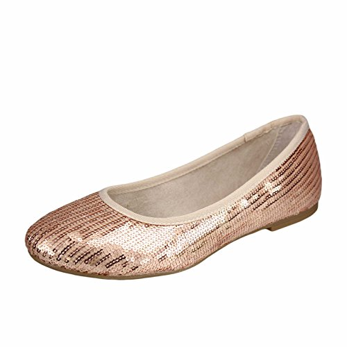 Oliver donna 26 s Ballerine Oro 5 cassis 22106 Rosso Rose 909 oro dwqgfYq