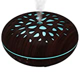 HopCentury 400ml WiFi Essential Oil Diffuser Smart Aroma Humidifier Compatible with Alexa, 6.69''x6.69'', Brown