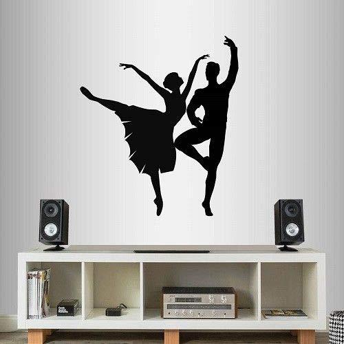 Diuangfoong Vinyl Decal Ballet Dancers Partners Duet Boy Girl People Dance Wall Sticker
