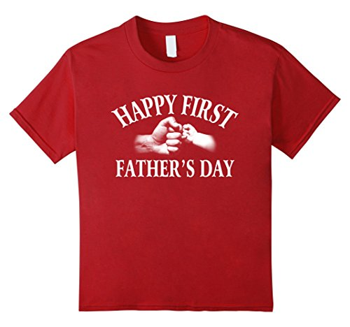 Kids Happy first father's day T-shirt Great gift father'sday 12 Cranberry