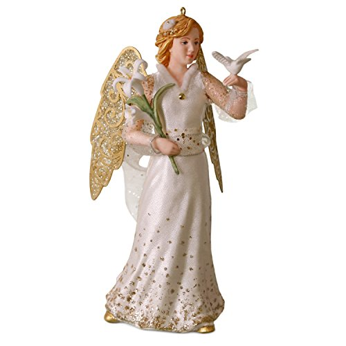 Hallmark Keepsake Christmas Ornament 2018 Year Dated, Christmas Angels Peace ()