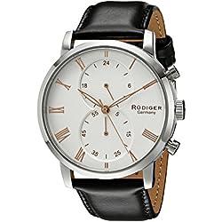 Rudiger Men's R2300-04-001.09 Bavaria Analog Display Quartz Black Watch