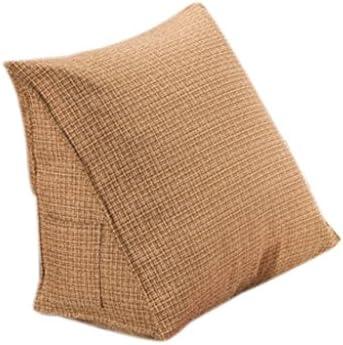 canap/é-lit brun fonc/é Coussin dossier lecture de repos Positionnement Oreiller Bureau Pad lombaire Size : 60x60x20cm Rembourr/é Triangular Coussin Wedge