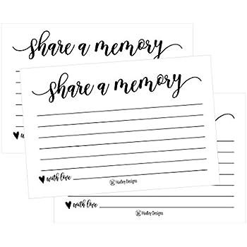 Amazon.com : Share a Memory Card for Memorial Funeral or Celebration ...